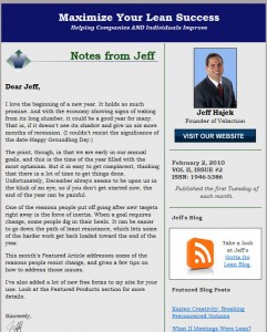 Maximize Your Lean Success Newsletter