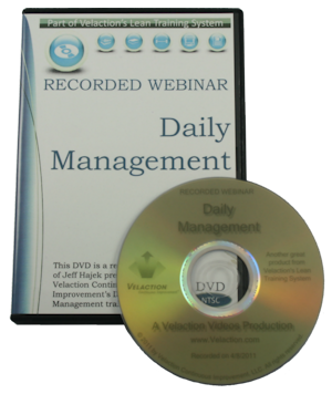 Daily Management DVD (Recorded Webinar) Cover