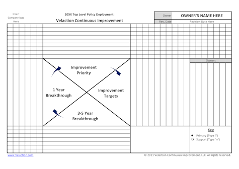 Top Level Policy Deployment Matrix