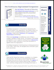 Knowledge Management Lean Term on PDF