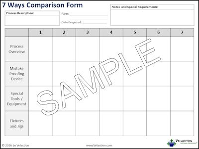 7 Ways Comparison Form
